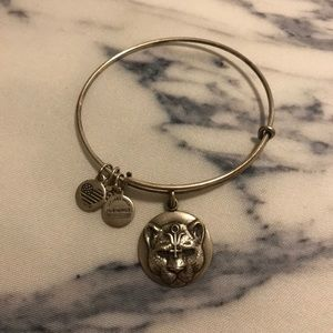 Alex and Ani panther Wild heart bracelet